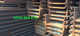Cừ larsen (loại V): 500 x 200 x 24.3 x 18000 mm